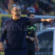 """Juve, Sarri: """"Rosso a Cuadrado? Non sono d'accordo, palla esterna"""""""