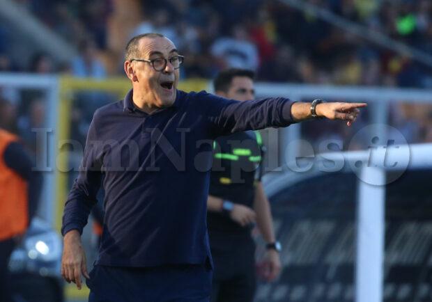 """Juve, Sarri: """"Napoli? Sono problemi loro, ma Ancelotti e Giuntoli sapranno risolvere tutto"""""""