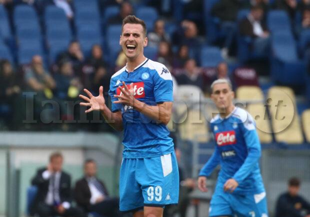 Il Mattino – Fastidio Muscolare per Milik: a rischio la gara contro il Genoa