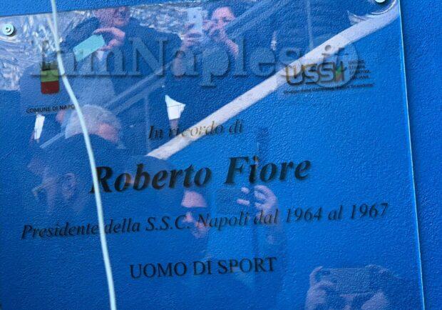 VIDEO IAMNAPLES.IT – Al San Paolo viene scoperta una targa in onore di Roberto Fiore