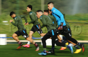 VIDEO E PHOTOGALLERY – Rivedi l'allenamento del Napoli in vista del Barcellona