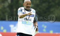 SSC Napoli's Italian coach Luciano Spalletti  gesticulate during the eighth day  of ssc napoli's 2021-22 pre-season training camp in val di sole in trentino, dimaro folgarida