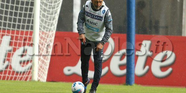 SSC Napoli's Italian coach Luciano Spalletti during the eighth day  of ssc napoli's 2021-22 pre-season training camp in val di sole in trentino, dimaro folgarida