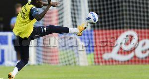 SSC Napoli's Nigerian striker Victor Osimhen during the ninth  day  of ssc napoli's 2021-22 pre-season training camp in val di sole in trentino, dimaro folgarida