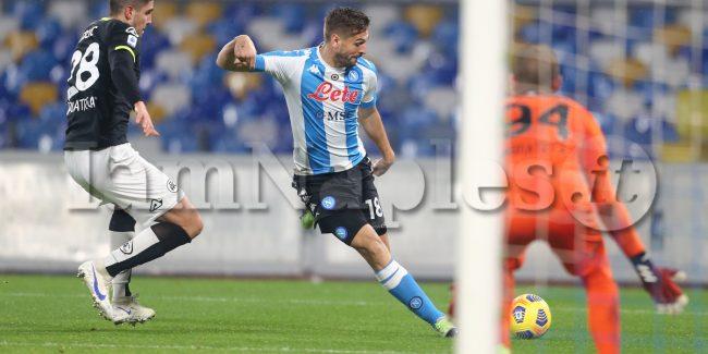 during the Serie A  football match SSC Napoli vs  Spezia Calcio