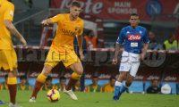 Napoli , Campania , ITALY: 2018-10-28, Italian Serie A football match SSC Napoli - AS Roma at the San Paolo stadium in photo Edin Dzekoin action