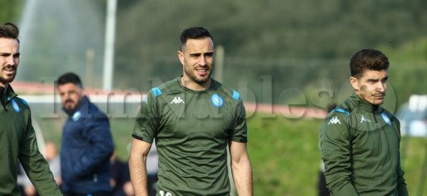 during preparation training SSC Napoli vs FC Barcellona  at the training center SSC Napoli Castelvolturno