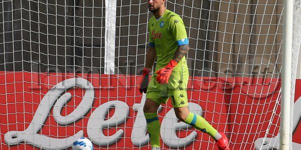 SSC Napoli's Italian goalkeeper Nikita Contini  during the fourth day  of ssc napoli's 2021-22 pre-season training camp in val di sole in trentino, dimaro folgarida, summer friendly match SSC Napoli vs Bassa Anaunia