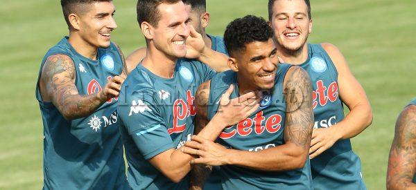 during the SSC Napoli Football team pre-season training camp