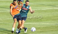 during the SSC Napoli Football team pre-season training camp