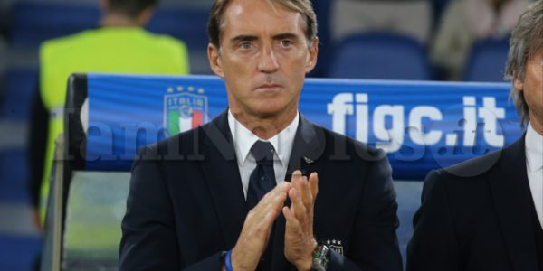 Roberto Mancini italian coach during the 2020 European qualifications Italian vs Greek  on October 11 2019 at the Olimpico in Roma (Antonio Balasco)