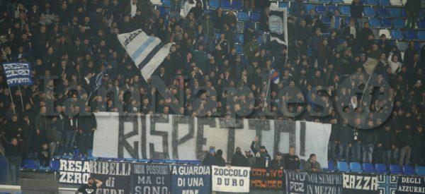 SPORT Serie A Napoli Genoa in foto striscione curva a (Newfotosud Antonio Balasco)