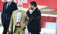 Finale coppa Italia napoli Juventus in foto Aurelio de laurentiis