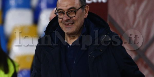 Maurizio Sarri coach juventus FC during the Serie A  football match  SSC Napoli vs  Juventus FC at the San Paolo Stadium