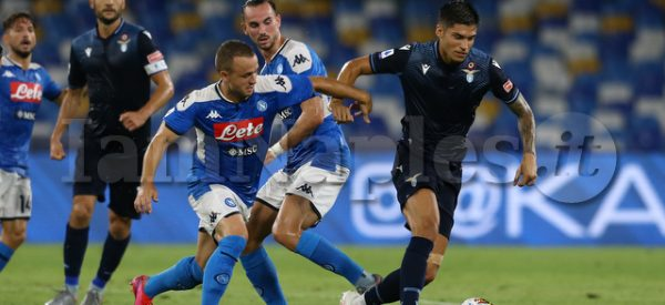 during the Serie A  football match  SSC Napoli vs SS Lazio at the San Paolo Stadium